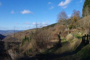 Chemin après le moulin du Bost en direction du Saut du Gier