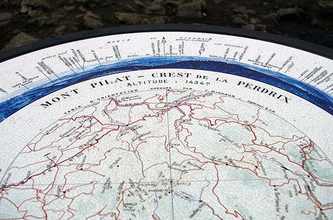 Table d'orientation Crêt de la Perdrix - Massif du Pilat