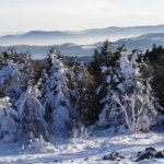 Vue du Crêt de la Perdrix sur la vallée de la Déôme, la Vallée de la Cance, Burdigne, le Mont Chelix...