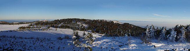 Panorama depuis le Crêt de la Perdrix