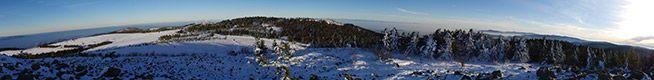 Vue panoramique depuis le Crêt de la Perdrix
