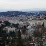 Vue du cours Fauriel de Saint-Etienne depuis le chemin de La Pouilleuse