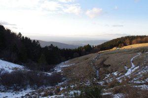 Vue sur la vallée du Gier depuis la Jasserie