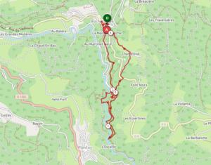 Carte trail de Rochetaillée 2019 - Parcours 8 km 320D+