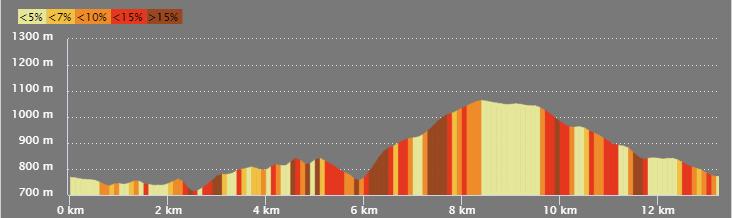 Profil du parcours du trail de Rochetaillée 2019 - Parcours 13 km 550D+