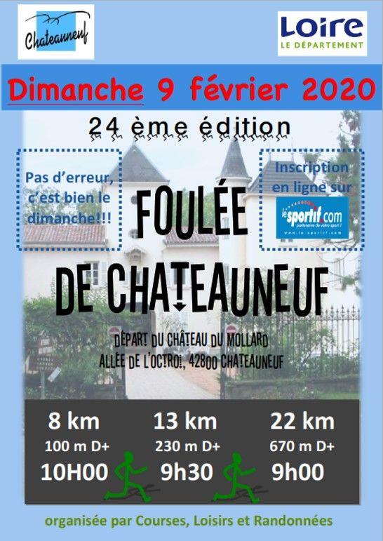 24e Foulée de Châteauneuf le 9 Février 2020