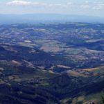 Vue depuis la zone de décollage de parapente de la Jasserie du Pilat