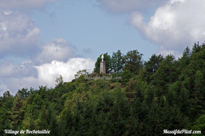 La Madone au dessus de Rochetaillée aux portes du massif du Pilat