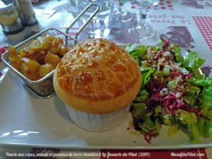 Tourte aux Cèpes Restaurant La Jasserie du Pilat - -Menu du Jour - Juin 2019