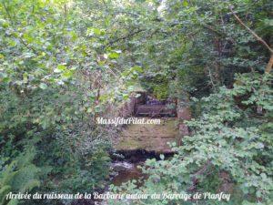 Arrivée du ruisseau de La Barbarie au niveau du barrage de Planfoy