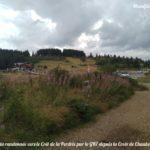 Départ de la randonnée vers le Crêt de la Jasserie au niveau de la Croix de Chaubouret