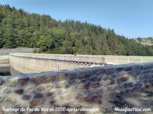 Rénovation du barrage du Pas de Riot de Planfoy en 2020