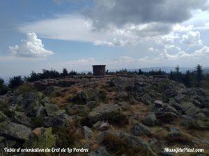 Table d'orientation du Crêt de la Perdrix, sommet du Pilat