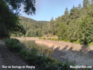 Tour du barrage de Planfoy