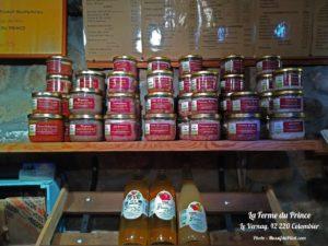 Produits et terrines de La Ferme du Prince du Vernay à Colombier dans le Pilat