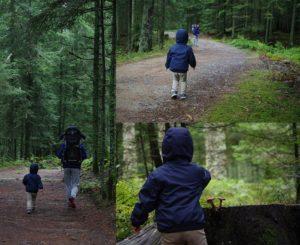 Balade en famille dans le forêt des Grands Bois au Bessat
