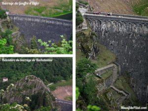 Barrage du Gouffre d'Enfer à Rochetaillée avec son belvédère et ses marches