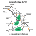 Carte des domaines nordiques du Pilat