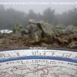 Table d'orientation du Crêt de la Perdrix, sommet du Pilat à 1431 mètres d'altitude.