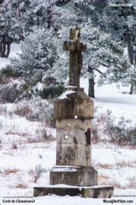 Col de la Croix de Chaubouret à 1201 mètres d'altitude