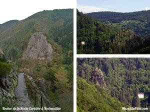 Escalade dans le Pilat au rocher de la Roche Corbière à Rochetaillée près du barrage du Gouffre d'Enfer