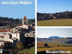 Village de Saint-Genest-Malifaux dans le Pilat