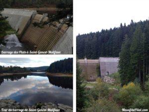 Tour du barrage des Plats à Saint-Genest-Malifaux