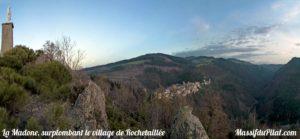 La Madone, surplombant le village de Rochetaillée