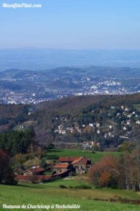 Hameau de Charteloup à Rochetaillée près de Saint-Etienne dans le Pilat (42)
