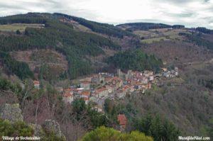 Vue sur le village de Rochetaillée depuis La Madone.