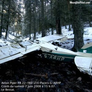 Lieu du crash de l'avion de tourisme en 2008 près de la Jasserie du Pilat