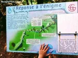 L'aqueduc des sources, réponse à l'énigme 2 du sentier de la découverte du Pilat à Tarentaise