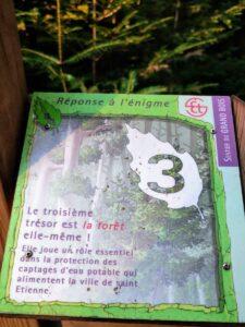 La forêt, le troisième trésor des Grands Bois du Pilat à Tarentaise sur le sentier de la devinette