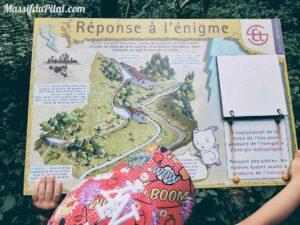Réponse à l'énigme 1 du sentier de la Devinette dans le Pilat au départ du Pont Souvignet