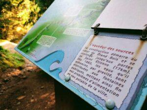 L'Aqueduc des Sources, réponse à l'énigme 2 du sentier de la devinette de la forêt du Grand Bois à Tarentaise dans le Pilat