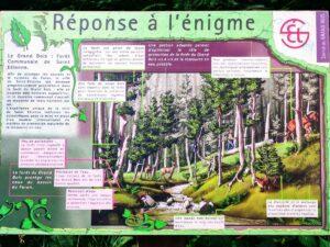 Réponse à la troisième énigme du sentier de la découverte au Pont Souvignet à Tarentaise